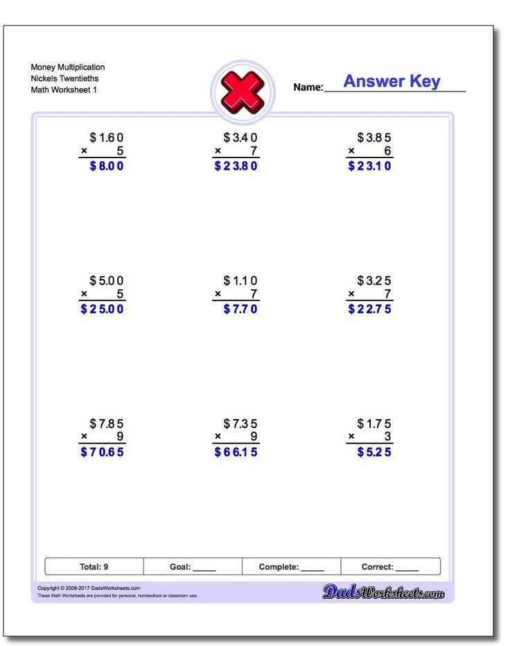 385 best Multiplication Worksheets images on Pinterest | Math facts ...
