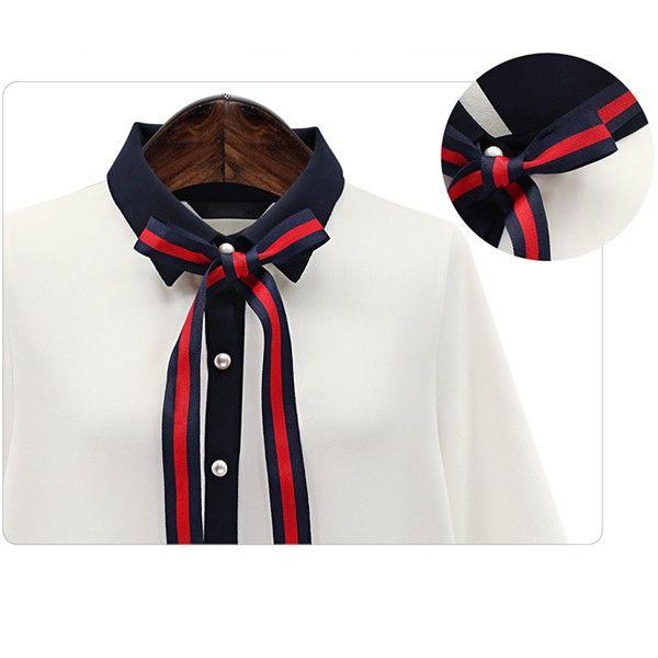 送料無料 レディース シャツ ブラウス トップス ボウタイ リボン スキッパーシャツ 透け感 通勤 きれいめ長袖 ゆったり 2カラー 4サイズS M L XL tp290 :tp290:マリアガーデン - 通販 - Yahoo!ショッピング
