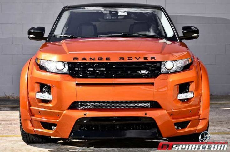 Vesuvius Orange Range Rover Evoque by Ultimate Auto-fronttview