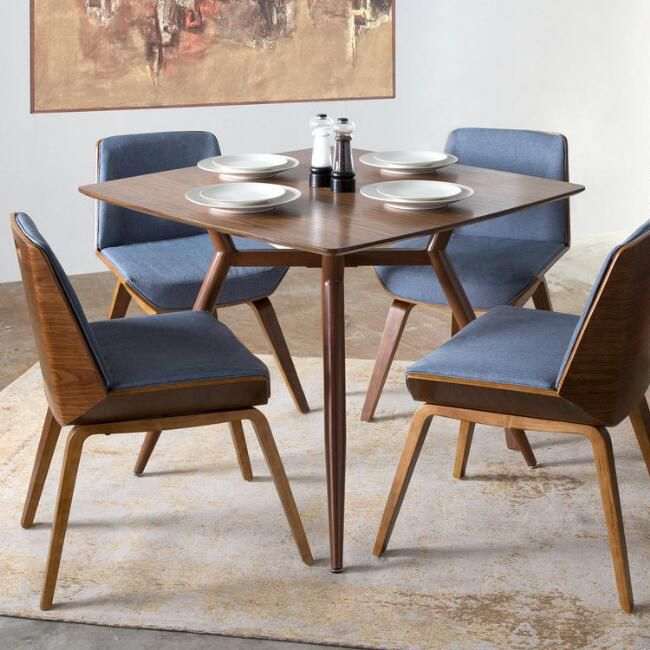 Best Blue Mid Century Joel Upholstered Dining Chair 400 x 300