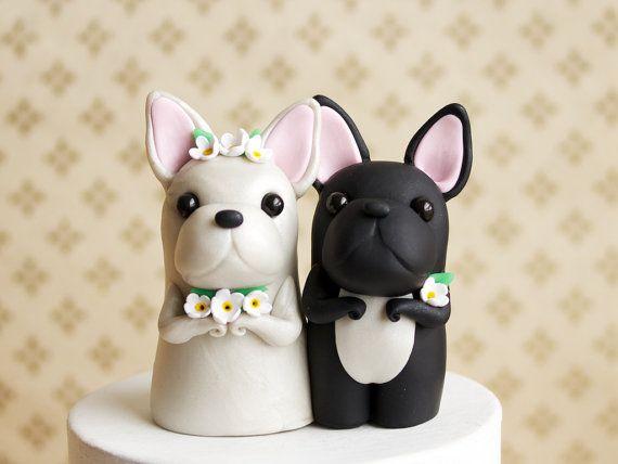 French Bulldog Wedding Cake Topper  Frenchie by BonjourPoupette, $125.00