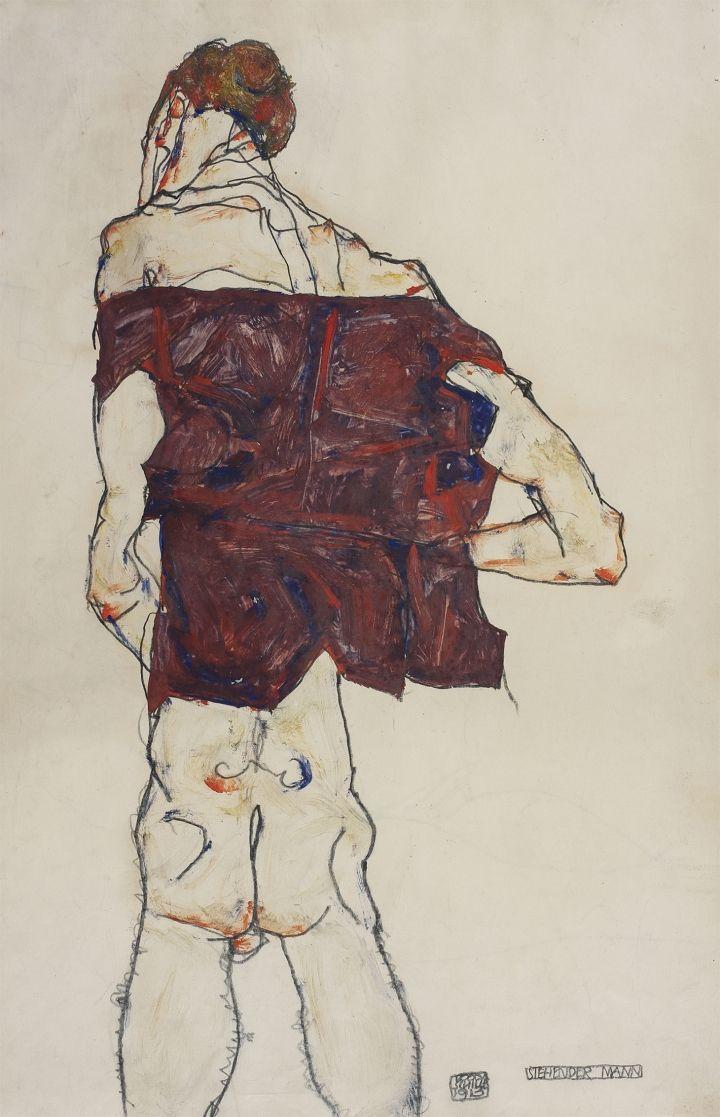 Egon Schiele S Quivering Line Tells All Dessin Fondation Louis