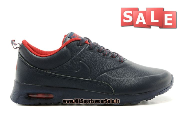 super popular 26045 d3709 ... Nike Air Max Thea Leather - Chaussure Nike Sportswear Pas Cher Pour  Homme NoirRouge ...