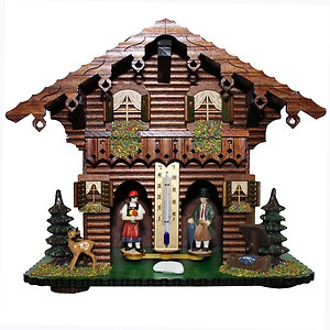 German Black Forest Weather House Barometer ... had one when I was little. In bad weather the witch came out, in good weather the little girl would come out. Fascinated me ...