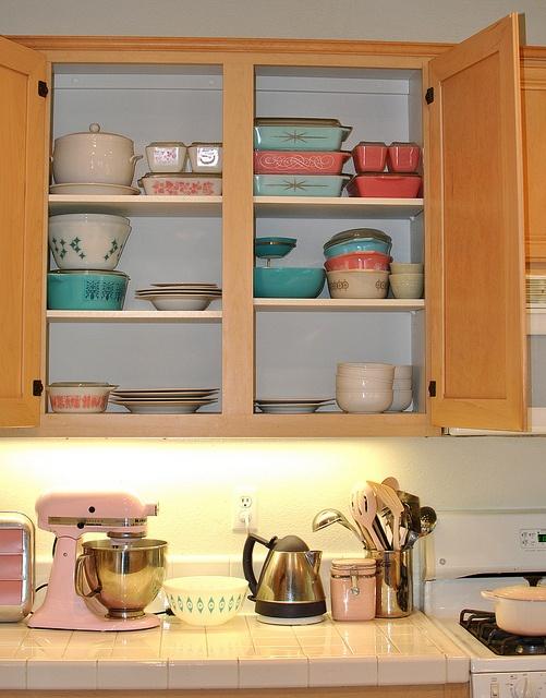 Pyrex, Federal Glass, Pink Le Crueset, Pink Kitchenaid Mixer