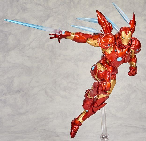 New Marvel Amazing Yamaguchi Revoltech Bleeding Edge Armor Iron Man Figure Images Animated Drawings Marvel Marvel Iron Man