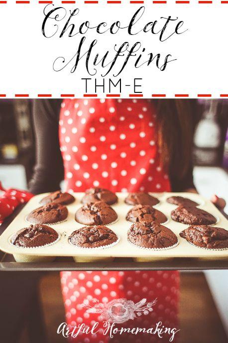 Chocolate Muffins {Trim Healthy Mama-E} - Artful Homemaking.  Tastes like chocolate cake!  I will make them again! paleohacks recipes low carb