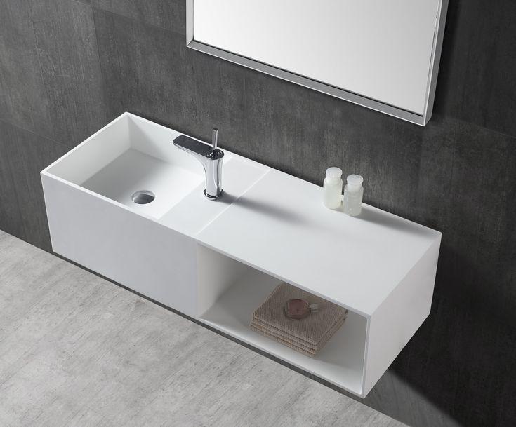 Die besten 25+ Wandwaschbecken Ideen auf Pinterest kleines - badezimmerschrank mit waschbecken