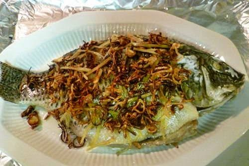 Steamed Tilapia with Spring Onion and Ginger