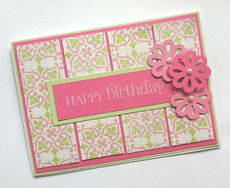 Birthday Card, Pink Birthday Card, Birthday Card for Women or Girls. $3.00, via Etsy.