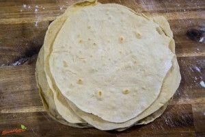 Tortilla selber machen - vegan - aus Dinkel Rezept + Video