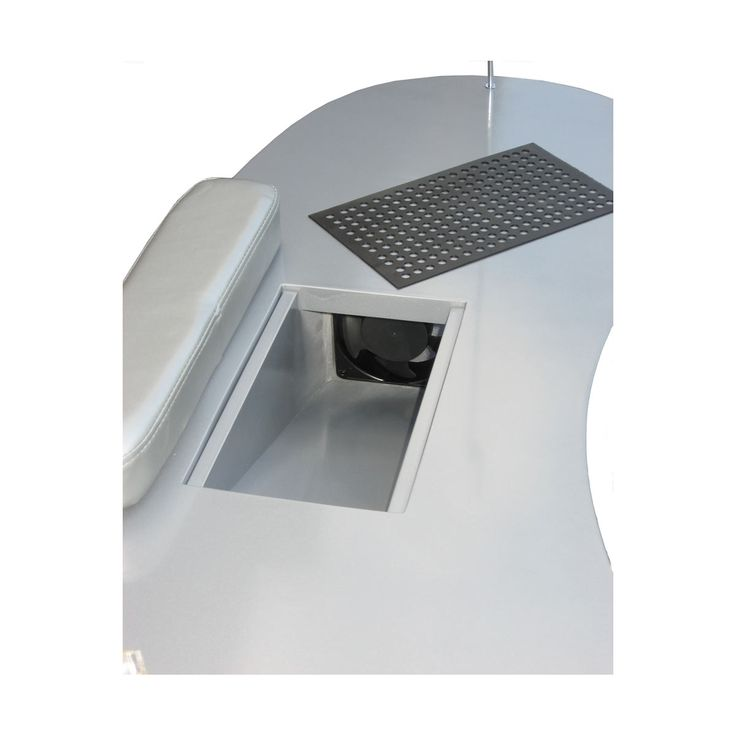 Table manucure avec aspiration chambre de filtre gris - GOLDBEAUTE