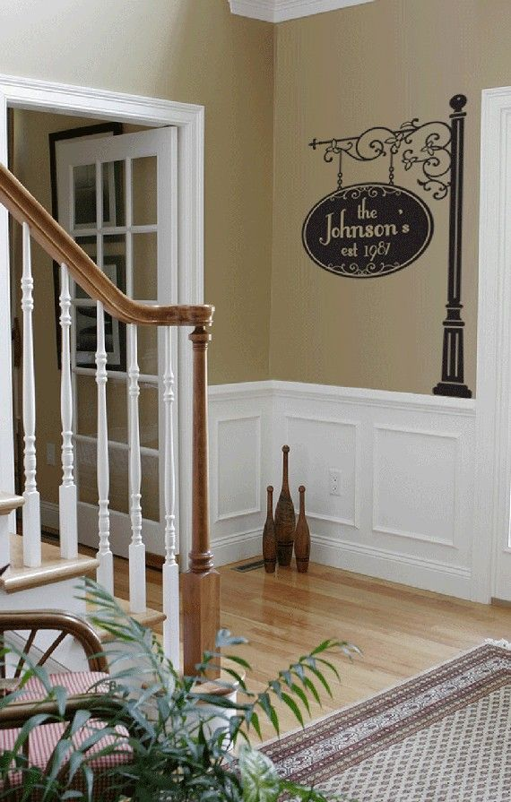 Foyer Paint Quotes : Customized vinyl wall sign your name est year home