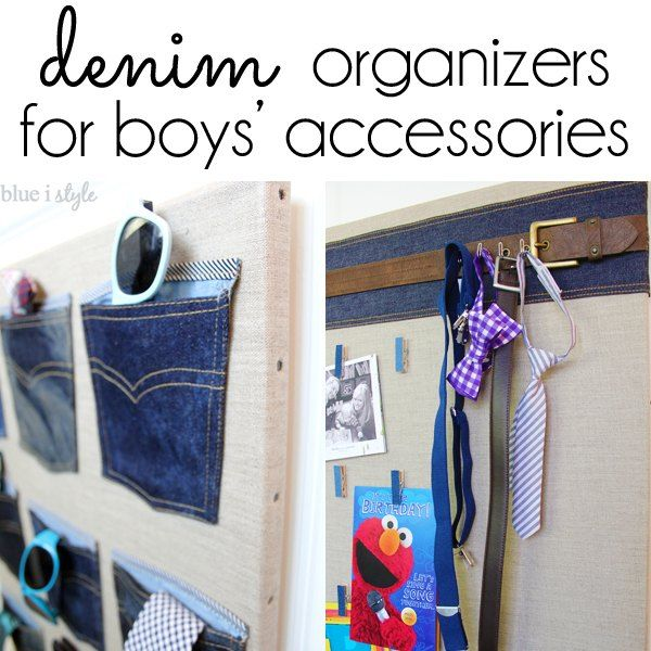 denim organizers for boys accessories, bedroom ideas, closet, organizing, repurposing upcycling, storage ideas