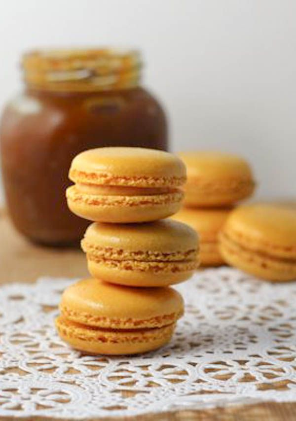 Pumpkin Macarons - oh crap! These are amazing! I just used my own canned squash instead of pumpkin butter and way less icing than the recipe calls for as well as no food coloring (because who really needs that). These will be made again!