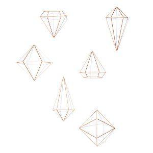 Amazon.com: Umbra Prisma Decorative Accents, Set of 6, Copper: Home & Kitchen