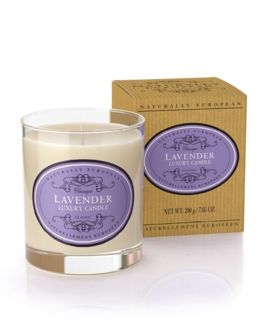 Wonderful Organic Candles - Lavender - A seriously great quality candle which burns well and perfumes the room brilliantly. Made with organic plant wax, essential oils and 100% natural ingredients, these candles are clean burning, sustainable and kind to your environment.  An ancient medicine due to its powerful healing properties, traditional lavender soothes, heals and relaxes. 40hr burn time  200gms
