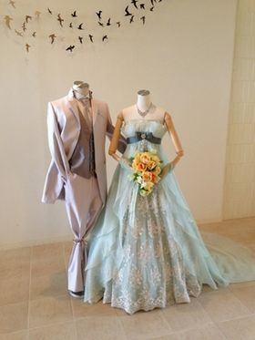 【実例集】グリーン系のカラードレスに合わせるブーケ - NAVER まとめ