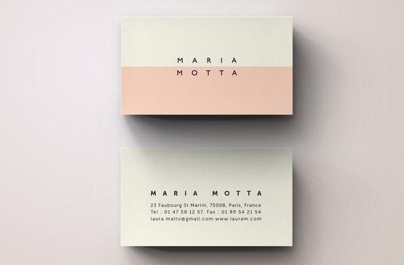 Pink Modern Business Card Template ~ Business Card Templates on Creative Market