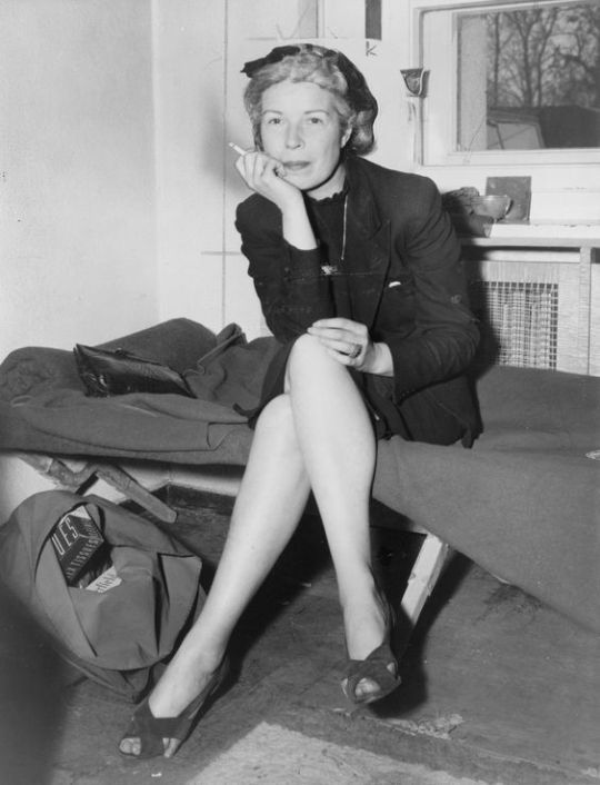 """Axis Sally"" Following her arrest for aiding the enemy in Berlin 1946. She was Born Mildred Gillars in Portland Maine USA."