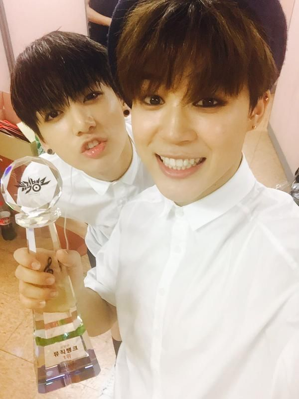 "BTS Tweet - Jimin & Jungkook (selca) posted by Jimin 150508 - 정말 무슨일이 일어난건자 모르겠어요 정말 행복하다라고 말씀드리고 싶어요  고마워요 아미 사랑합니다 -- [tran] ""We really have no idea what's going on. We just want to say that we're really happy. Thank you, I love you, ARMY.--- cr: ARMYBASESUBS · @BTS_AB"