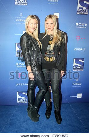 Valentina and Cheyenne Pahde at the launch party of the new Sony Entertainment Television broadcast at Praterinsel. - Stock Photo