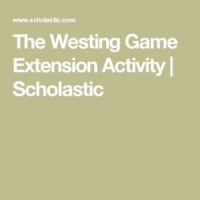The Westing Game Extension Activity | Scholastic