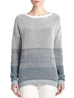 Vince - Ombre Cotton Knit Sweater