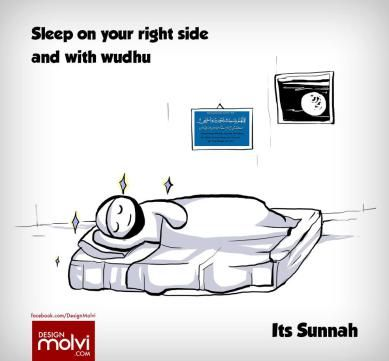Sleep the Sunnah way