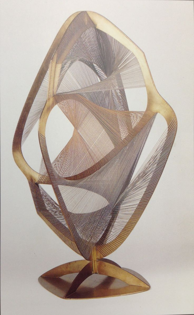 Naum Gabo Linear Construction in Space No 4  Fluid