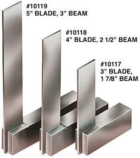 Steel Machinists Squares (Set of 3)