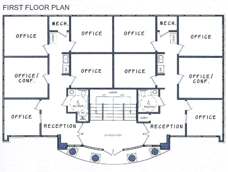 Attractive Decoration Ideas : Office Building Floorplans