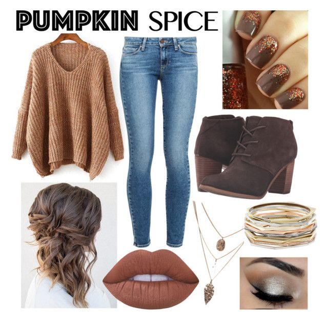 """Fall Fashion🍂"" by gagirl42 ❤ liked on Polyvore featuring Paige Denim, TOMS, Lime Crime and Kendra Scott"