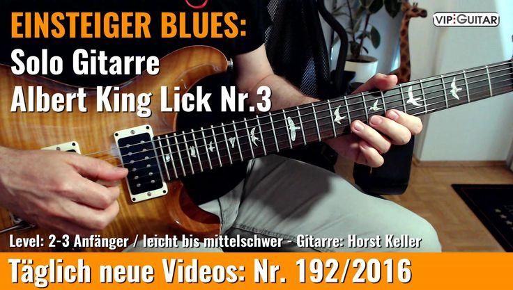 ✪ EINSTEIGER BLUES ►Albert King Lick Nr.3