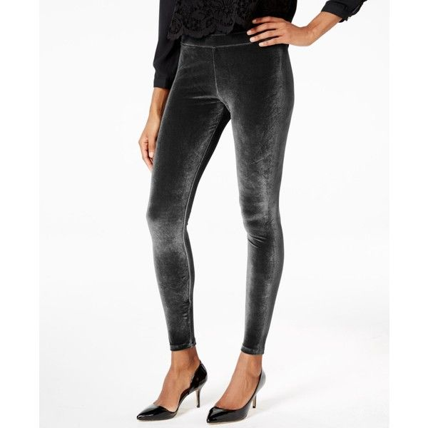 Hue Velvet Leggings ($36) ❤ liked on Polyvore featuring pants, leggings, black, hue leggings, velvet leggings, legging pants, velvet pants and velvet trousers