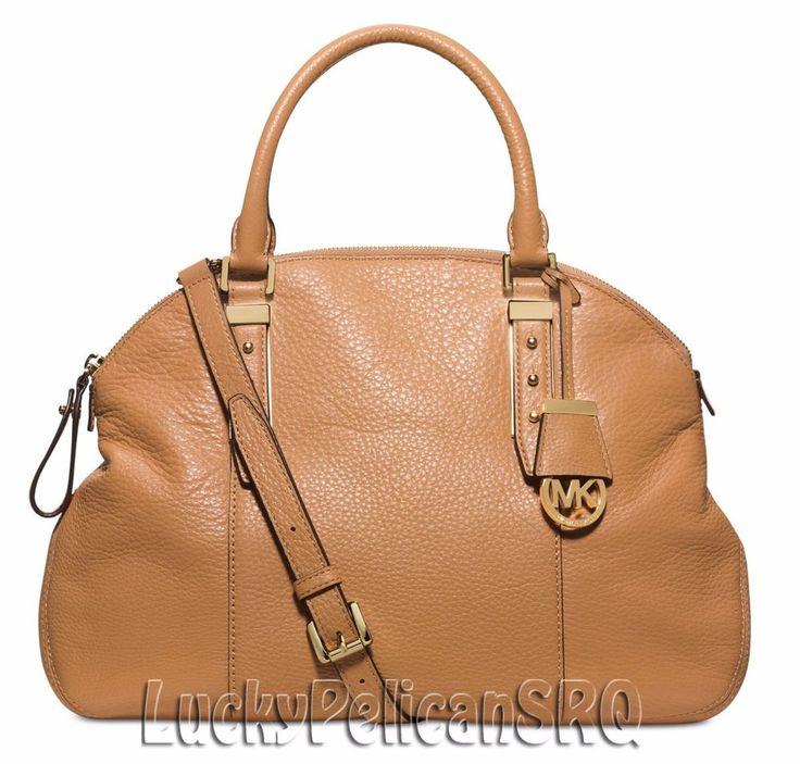 Michael Kors Bowery Large Satchel Bag Handbag Peanut Beige NWT #MichaelKors #Satchel