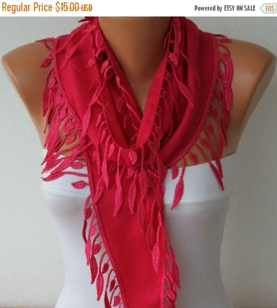 Hot Pink Pashmina Scarf  Spring Winter Accessories by fatwoman
