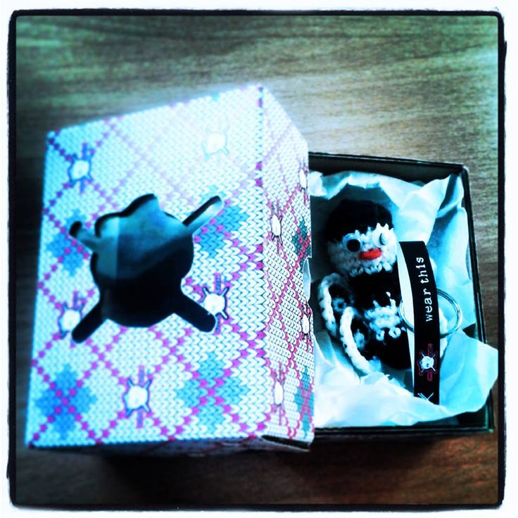 first design of the new box for our cute #woolyskull keychains.... <3 do you like it? <3