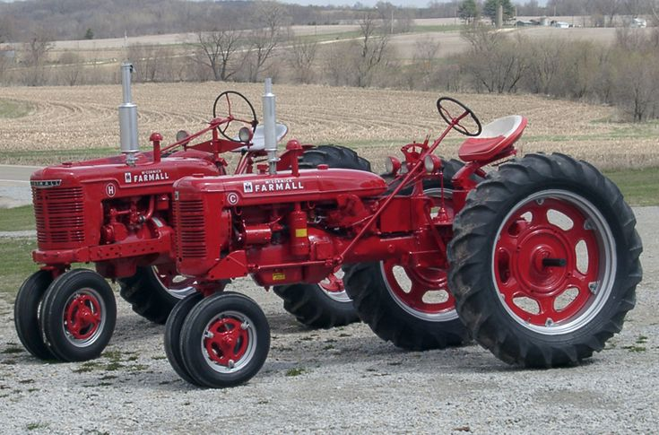 Some Old Farmall Tractors my father restored at his place in Iowa.