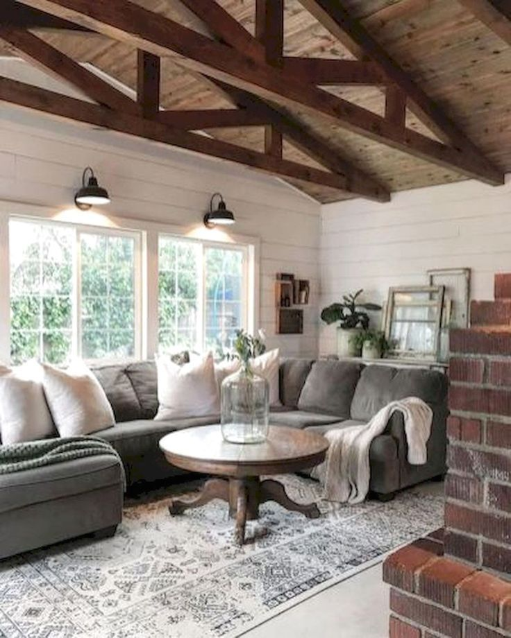 85 Charming Rustic Bedroom Ideas And Designs 4 In 2020: 97 Incredible Farmhouse Living Room Decor Ideas