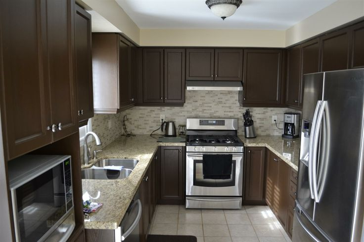 White Cabinets Dark Countertops