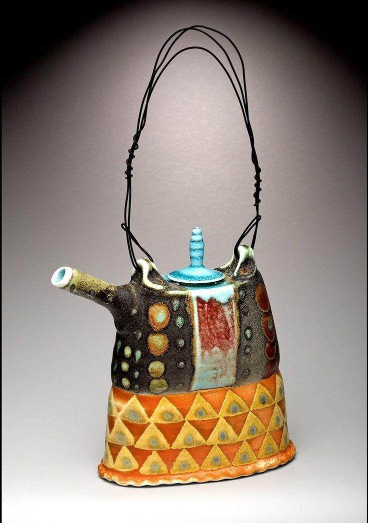 Mark Knott962 Teapots, Ceramic Teapot, Teas Pots, Mark Knott, Knott Teapots, Whimsical Teapots, Clay Teas, Ceramics Inspiration, Teapots Whimsy