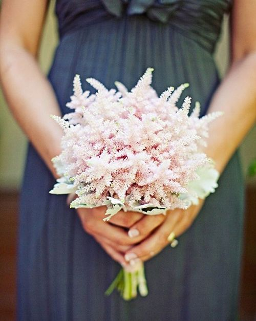 An astilbe posy for #bridesmaids | Brides.com