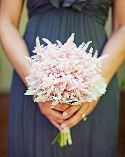 An astilbe posy for #bridesmaids   Brides.com