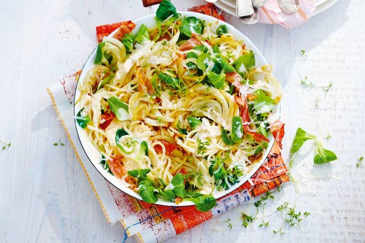 Spaghetti met rauwe ham & ricotta  - Recept - Allerhande