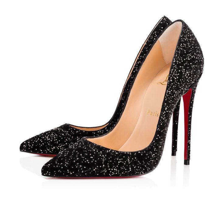 SO KATE CROSTA METEOR 120 Black Veau velours - Women Shoes - Christian Louboutin