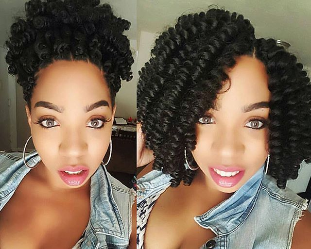 Saniya Curls Up or Down! Our Curlfriend @meggomeghan is ready to deliver her bundle of joy in 1 more week and choosing effortless curls was a great protective style choice! #curlkalon #saniyacurl #protectivestyles #crochetbraids