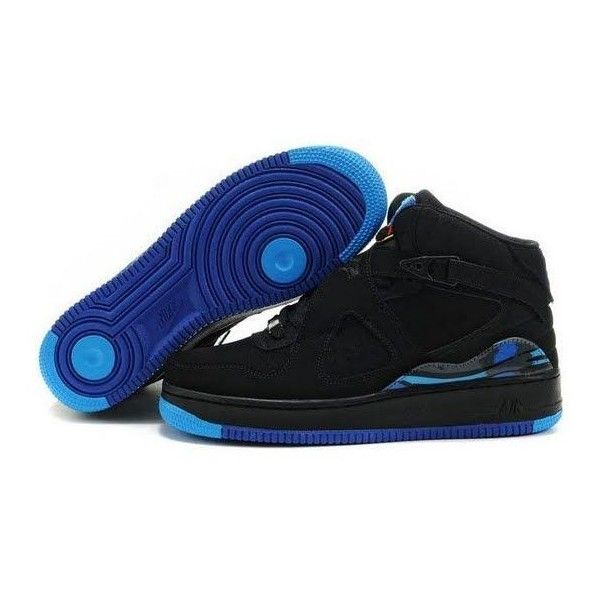 Women\u0026#39;s Air Jordan Fusion 8 Black Royal Blue CAD) ? liked on Polyvore featuring shoes, jordans, nike, sneakers, black suede shoes, black shoes, royal blue ...