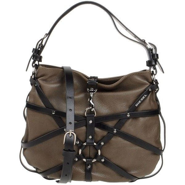 Diesel Handbag ($135) ❤ liked on Polyvore featuring bags, handbags, shoulder bags, lead, shoulder handbags, leather man bag, handbags & purses, handbags shoulder bags and leather handbags