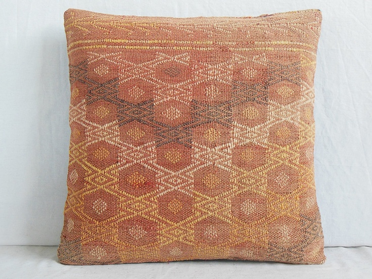 Throw Pillow Color Combinations : KILIM PILLOW Pastel Color Combination by DECOLIC 16 x 16 Decorative Pillow Pastel colors ...